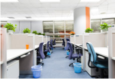 ABS provides commercial office cleaning, including janitorial services for all office common areas